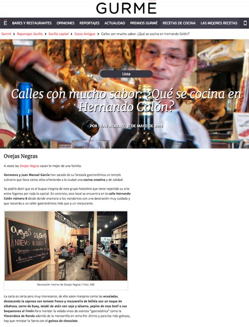 Ovejas Negras. Calles con mucho sabor: ¿Qué se cocina en Hernando Colón?